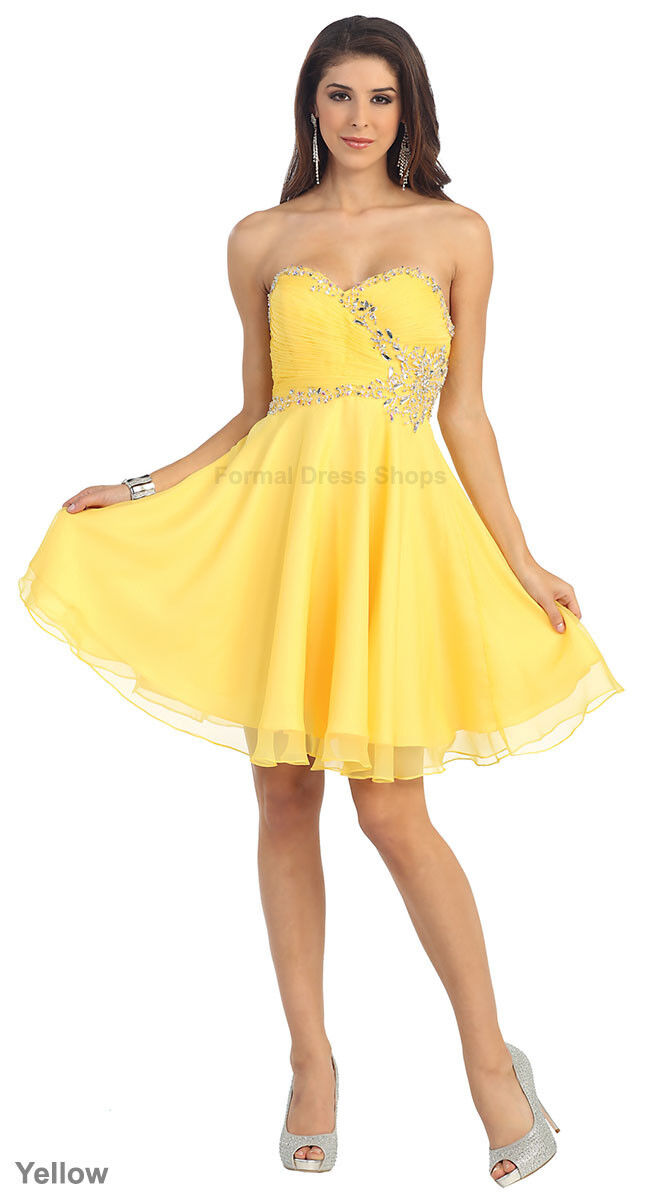 6971db03ef7 Details about SALE CUTE SHORT PROM HOMECOMING BRIDESMAID GRADUATION SEMI  FORMAL COCKTAIL DRESS