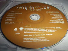 SIMPLE MINDS-NEON LIGHTS! MINT ADVANCE PROMO EDITION CD 2001