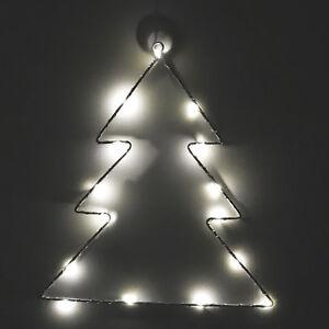 Fensterbeleuchtung Weihnachten Led.Details Zu Led Weihnachts Tannenbaum Weihnachtsbeleuchtung Metall 15 Led Fensterbeleuchtung