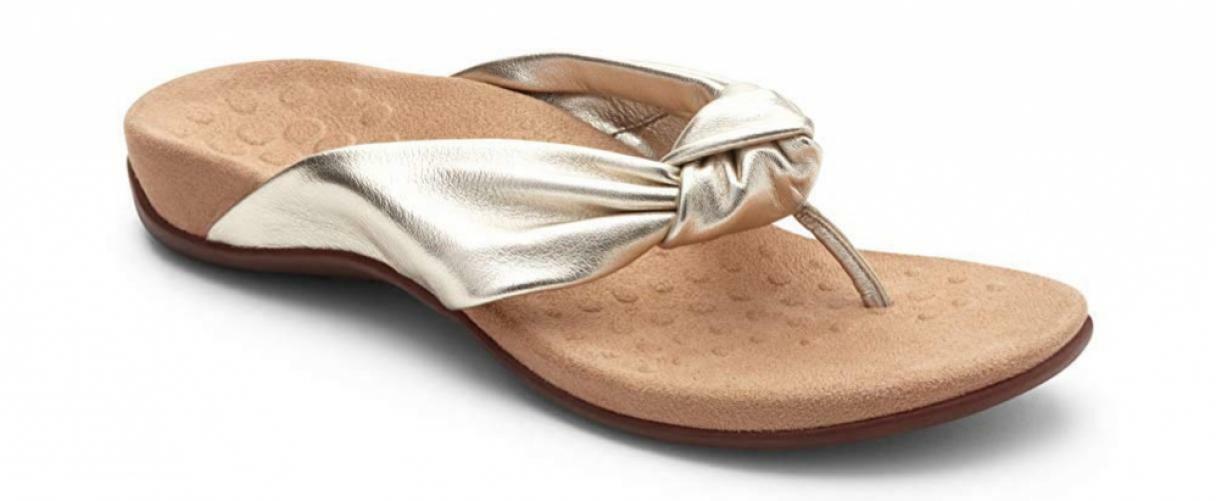 Vionic Women's Rest Pippa Toepost Sandals – Ladies Leather Knot Flip Flops...
