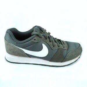 Nike-MD-RUNNER-2-PE-GS-Taglia-UK-5-EUR-38-Scarpe-da-ginnastica-in-pelle-scamosciata-grigio-verde