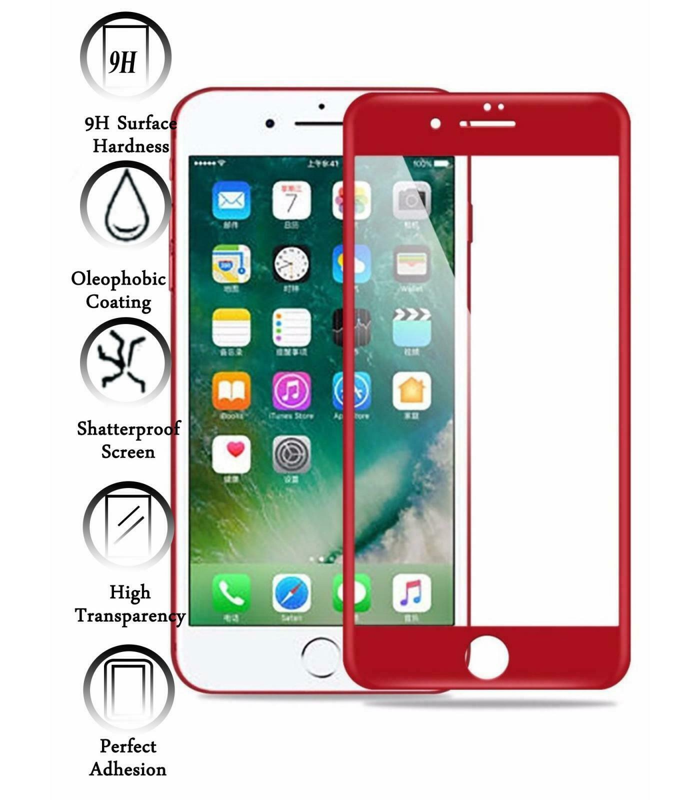GzPuluz Protector Film 100 PCS for iPhone 7 HD Non-Full Screen Protector No Retail Package