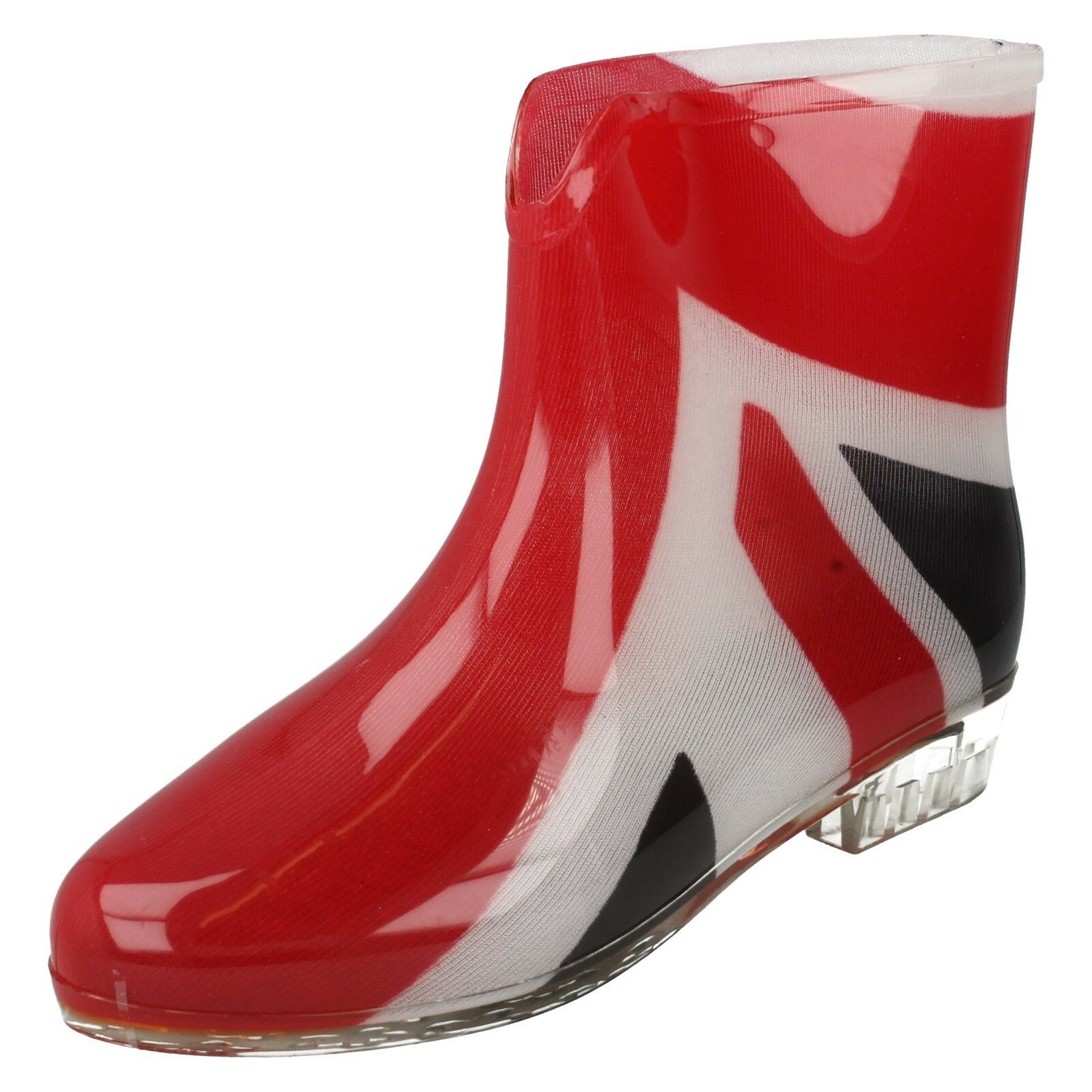 LADIES RAIN WATERPROOF UNION FLAG PRINT ANKLE WELLIES WELLINGTON BOOTS X1195