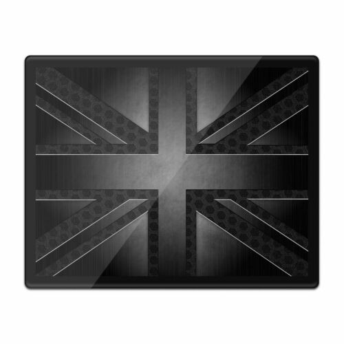 Tovaglietta americana Mousemat 8x10-Nero Grunge British Bandiera Union Jack #21663