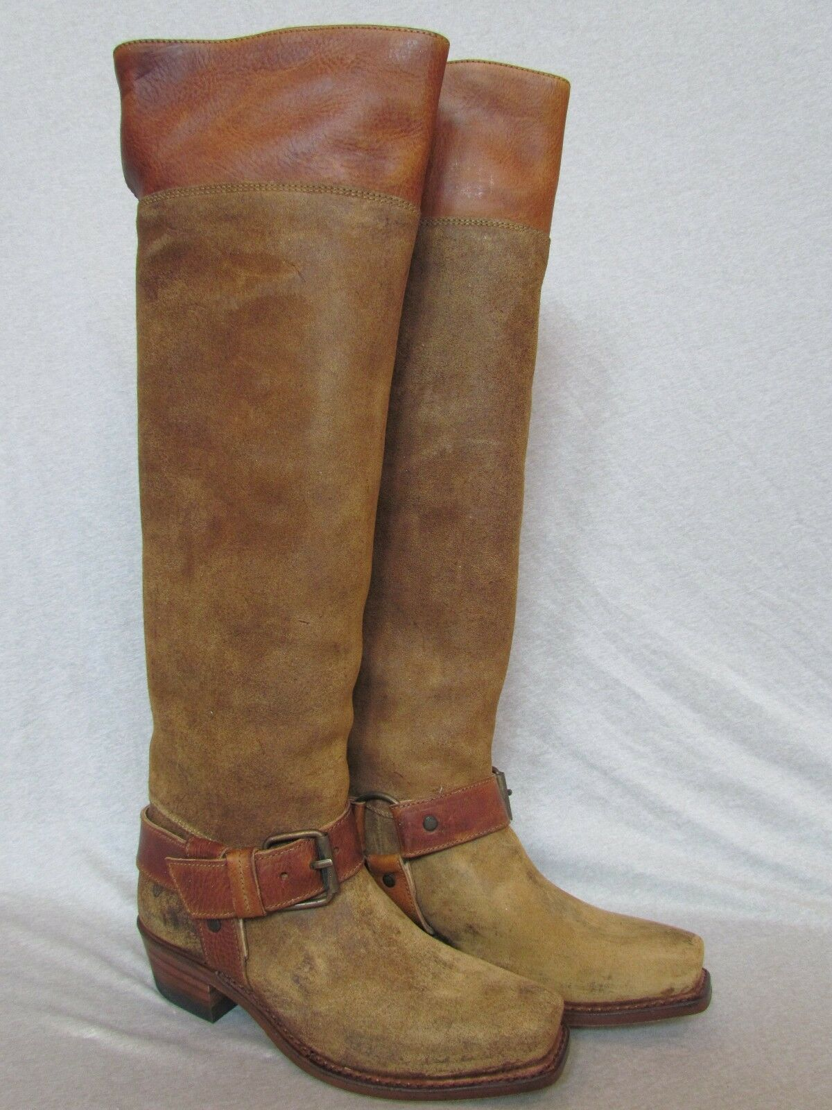 NEW NWB FRYE DEENA HARNESS TALL AT/OVER KNEE LEATHER BOOT SZ 7