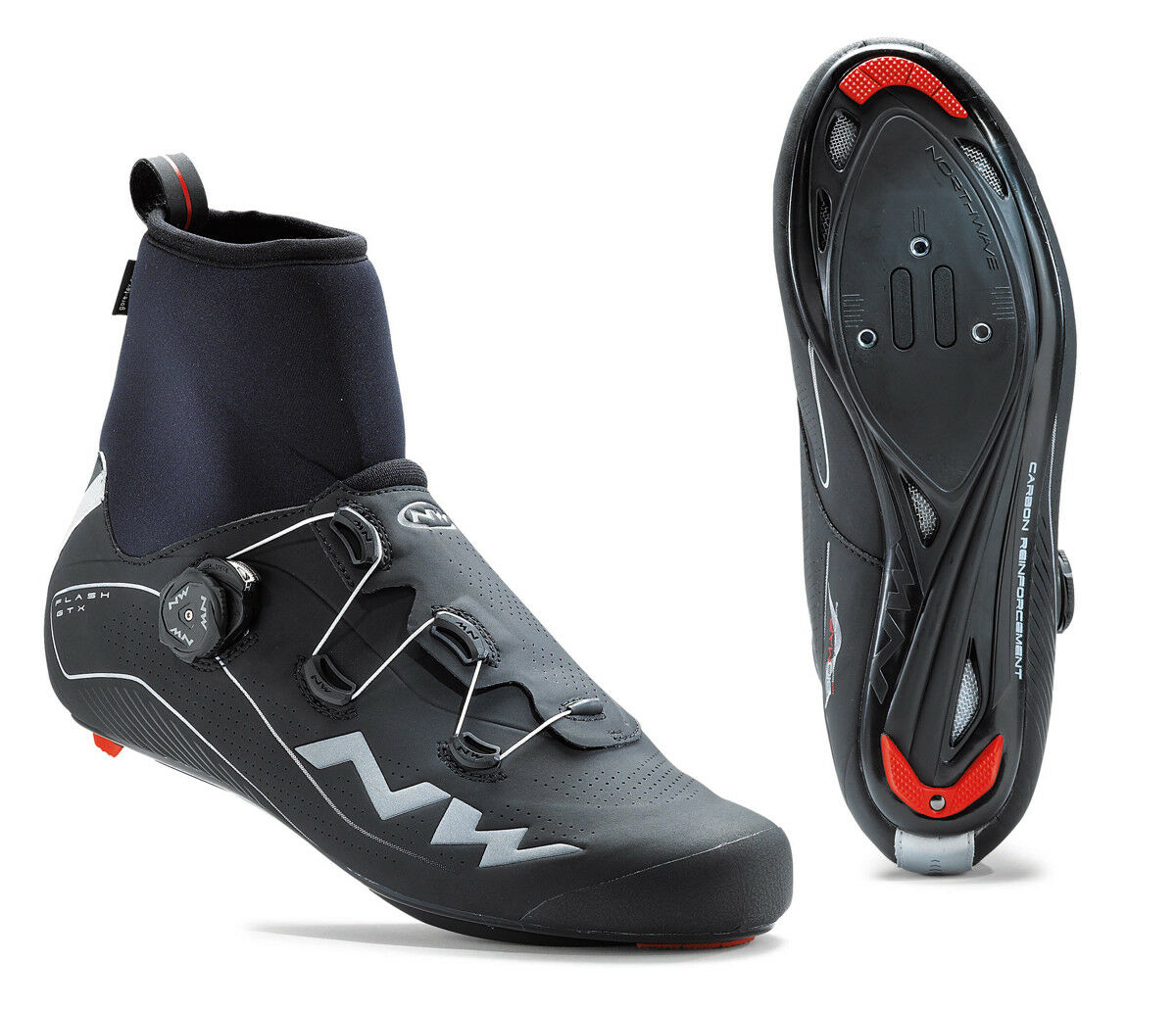 Northwave Flash GTX Winter Rennrad Fahrrad Schuhe schwarz 2020