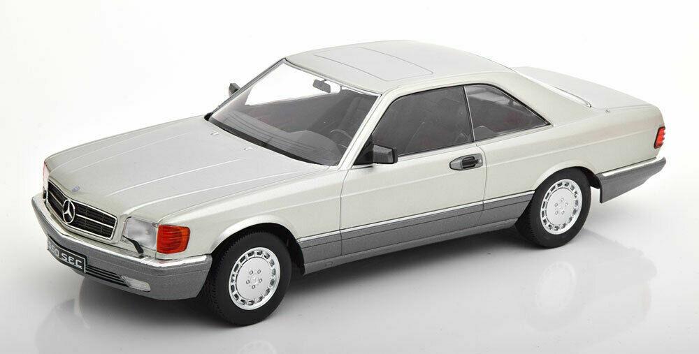 Kk Maßstab 1985 Mercedes Benz 560 Sec C126 Silber Le Of 1000 1 18 Neu