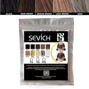 Sevich-HAIR-BUILDING-Fibers-Bulk-Bag-MANY-COLORS-100g-KERATIN-FREE-DELIVERY-UK