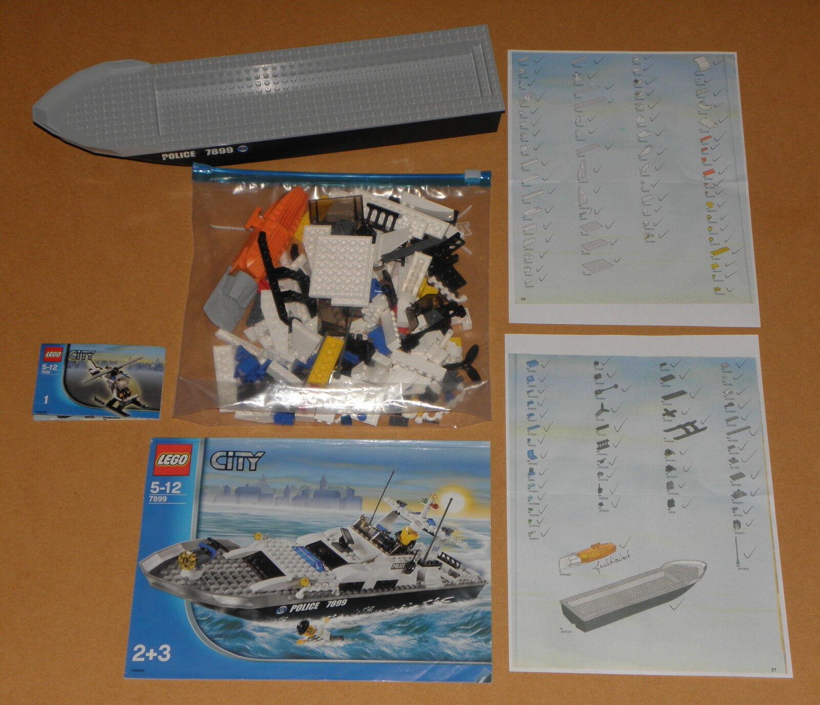 Lego City 7899 POLIZEI-Stiefel MIT MOTOR und  HUBSCHRAUBER   100% komplett BA OVP