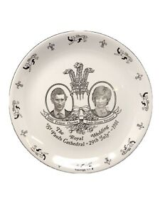 9-3-4-The-Royal-Wedding-29th-July-1981-Collector-Plate-Myott-Meakin-England