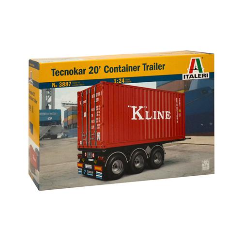 TECNOCAR 20' CONTAINER TRAILER KIT 1:24 Italeri Kit Camion Die Cast Modellino