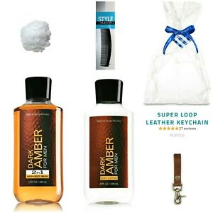 Men S Gift Set Bath Body Works Dark Amber Hair Body Wash Lotion Gifts For Him 667532660227 Ebay