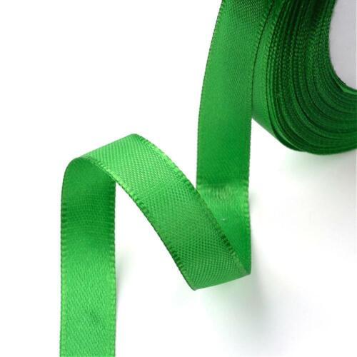 De Lujo 12mm Verde Esmeralda 22m Cinta De Raso Para Artesanía Costura Confeccion Gargantilla