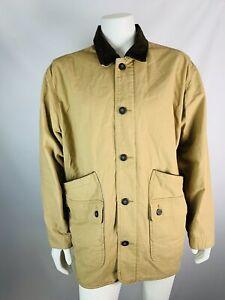 Orvis-XXL-2X-Mens-Jacket-Cotton-Safari-Utility-Button-Down-Khaki-Beige-Brown