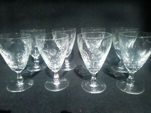 4eb6c46f8aa7 Image is loading Edinburgh-crystal-thistle-etched-small-wine-glasses-glass-