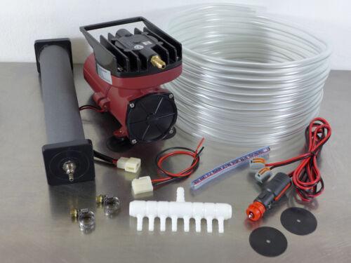 ACO-006D 12V Transportbelüfter Sauerstoffpumpe Belüfter Teichbelüfter Kompressor