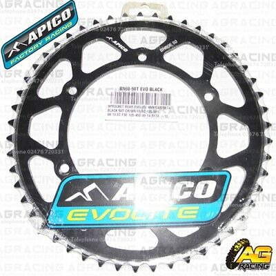Adaptable Apico Evolite Black Rear Sprocket 50t 520 For Sherco Se-f 250 4t 2018