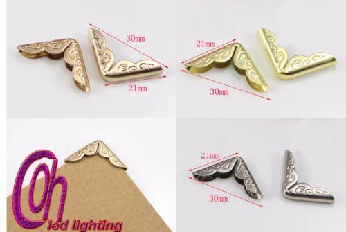 4 piezas 3 Colores para Elegir Libro De Metal protectores de esquina álbumes de recortes
