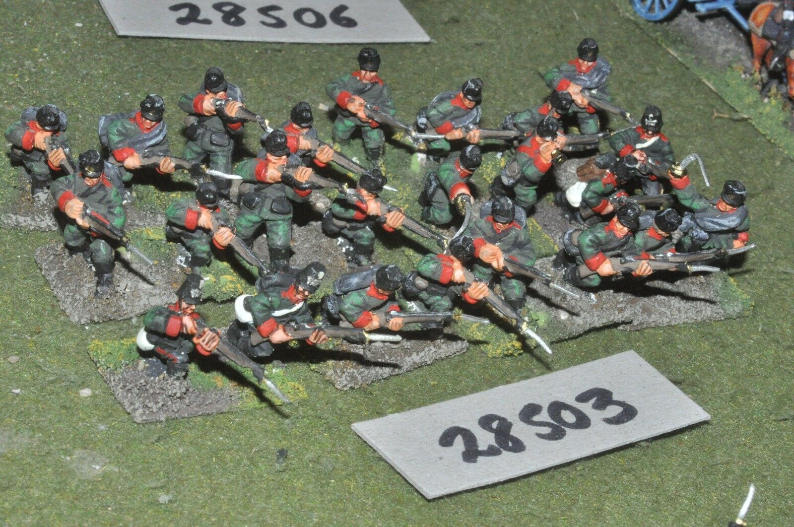 20mm 19th century   prussian - regiment 24 figures - inf (28503)