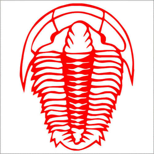 Pack Sticker 2 Trilobite Vinyl Decal TWO