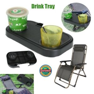 Portable Folding Camping Picnic Outdoor Beach Garden Chair Side Tray For Drink /_