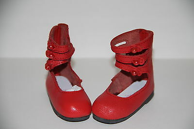 Jasmines Cottage Esther Leather doll shoe Red MSD 63mm fits Wiggs /& Lasher