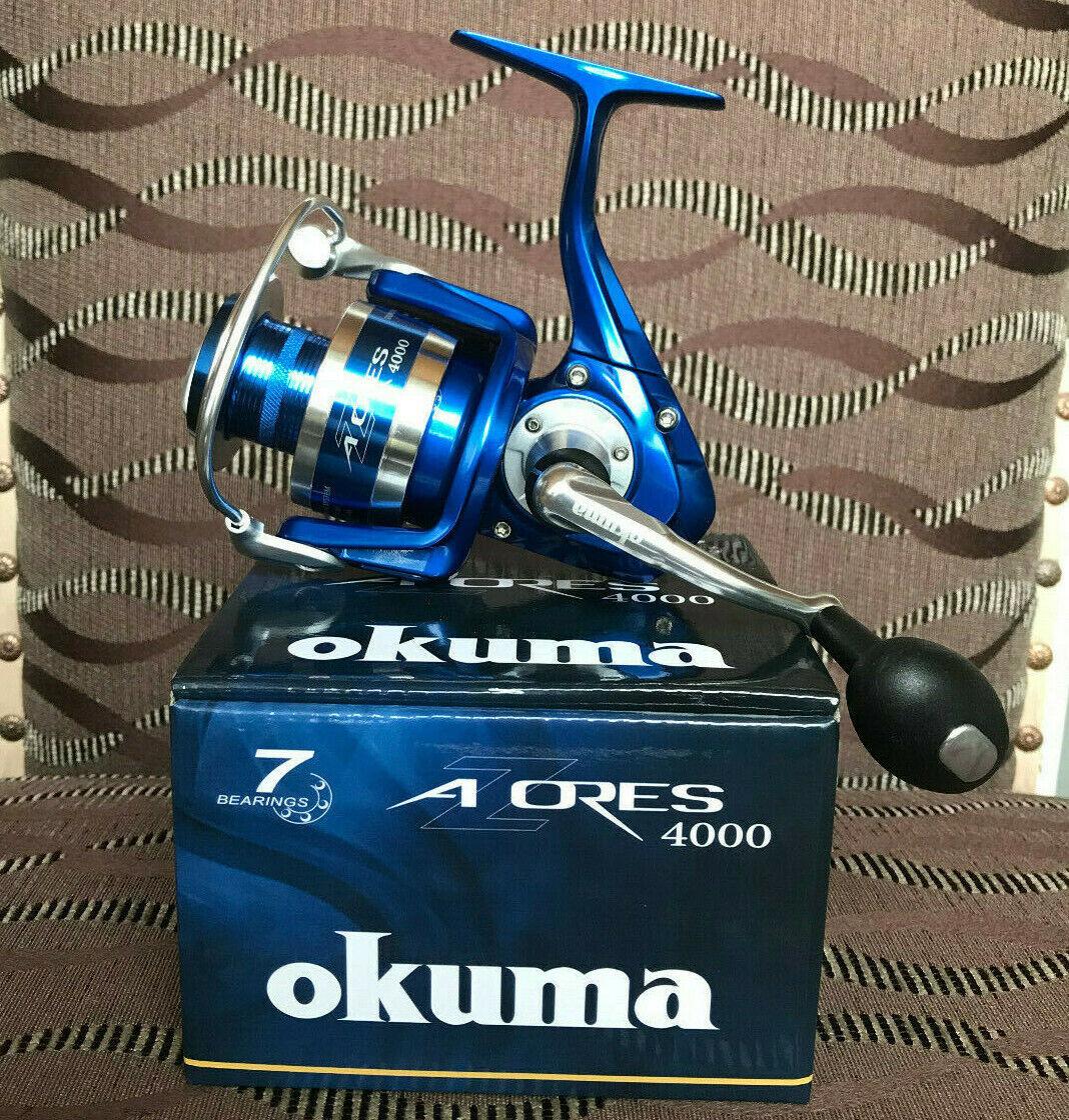 Okuma Azores 4000 FD azul spinnrolle