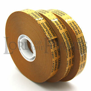 3 X Atg Tape 12mm X 50m Double Sided Adhesive Transfer Tape