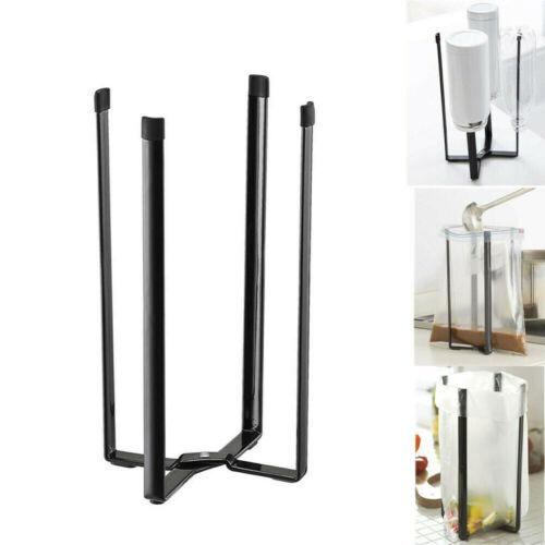 Plastic Bag Holder Black Table Stand Kitchen Tower Bottle Dryer Drying Rack 2PCS