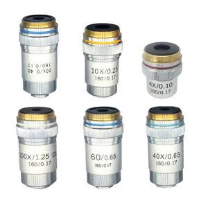 4X-10X-20X-40X-60X-100X-DIN-Achromatic-Objective-for-Biological-Microscope-195mm
