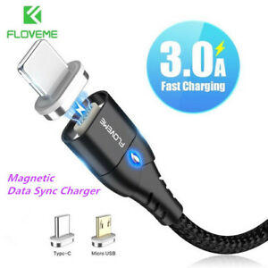 FLOVEME-5V-3A-Line-Strong-Magnetic-USB-Fast-Charger-Cable-For-Micro-USB-Type-C