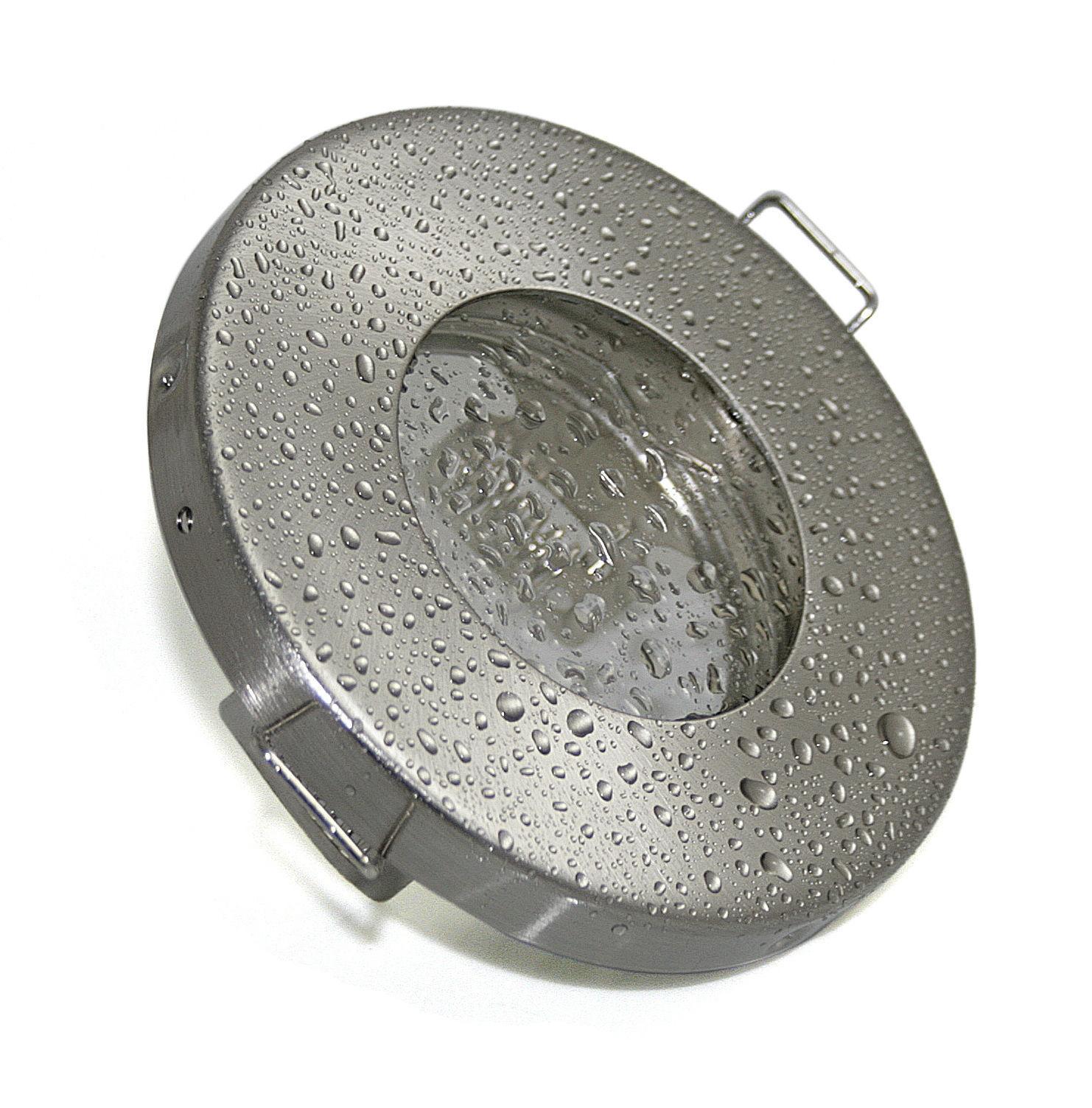Einbaustrahler GU10 IP65 LED 5W 230V Einbaurahmen Feuchtraum Nassraum Badlampe
