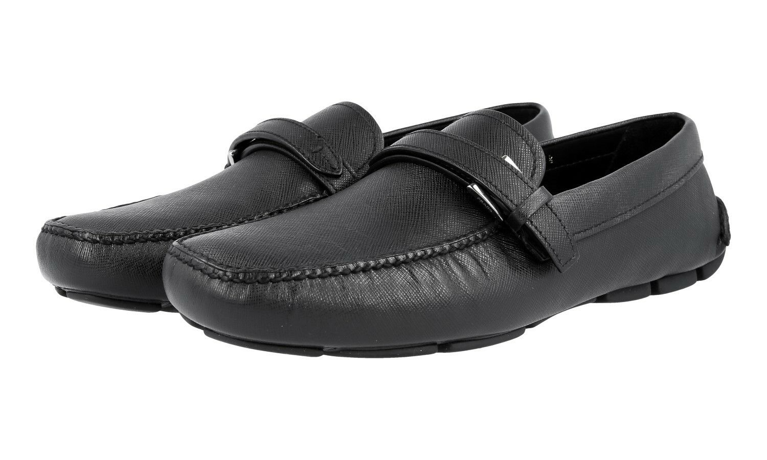 LUXUS PRADA SAFFIANO BUSINESS LOAFER SCHUHE 2DD110 black NEU NEW 9 43 43,5