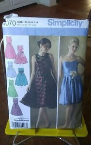 Oop-Simplicity-4070-misses-dress-lace-overdress-details-prom-sz-6-14-NEW