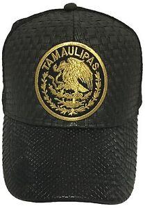 b98bad359324b TAMAULIPAS MEXICO LOGO FEDERAL HAT GORRA DE PALMA VISERA DE PIEL ...