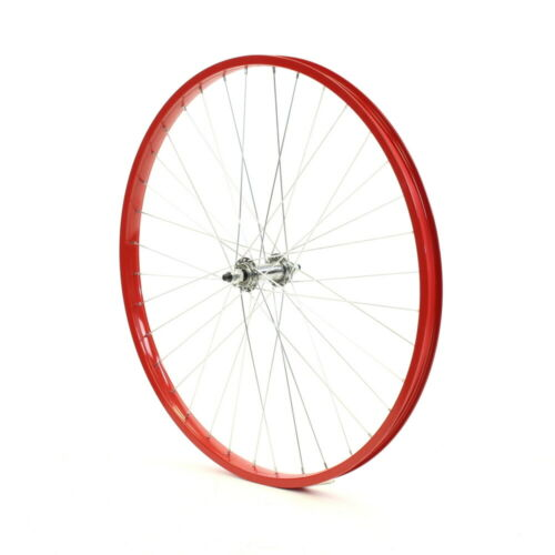 "Beach Cruiser bike 26/""x 32mm Fat Rear /& Front Wheels Wheelset Rims Pink"