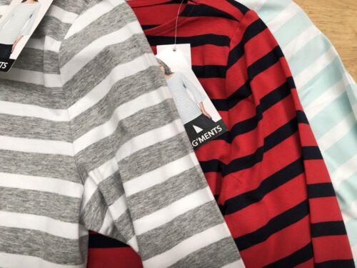 Segments Stripe TShirt Ladies Seg'ments Classy Bell Sleeve Shirt Free Post
