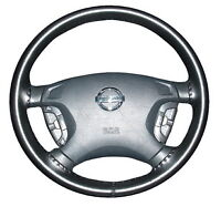 Black 2010 Mazda 3 Genuine Leather Steering Wheel Cover Wheelskins 14 1/2 X 4