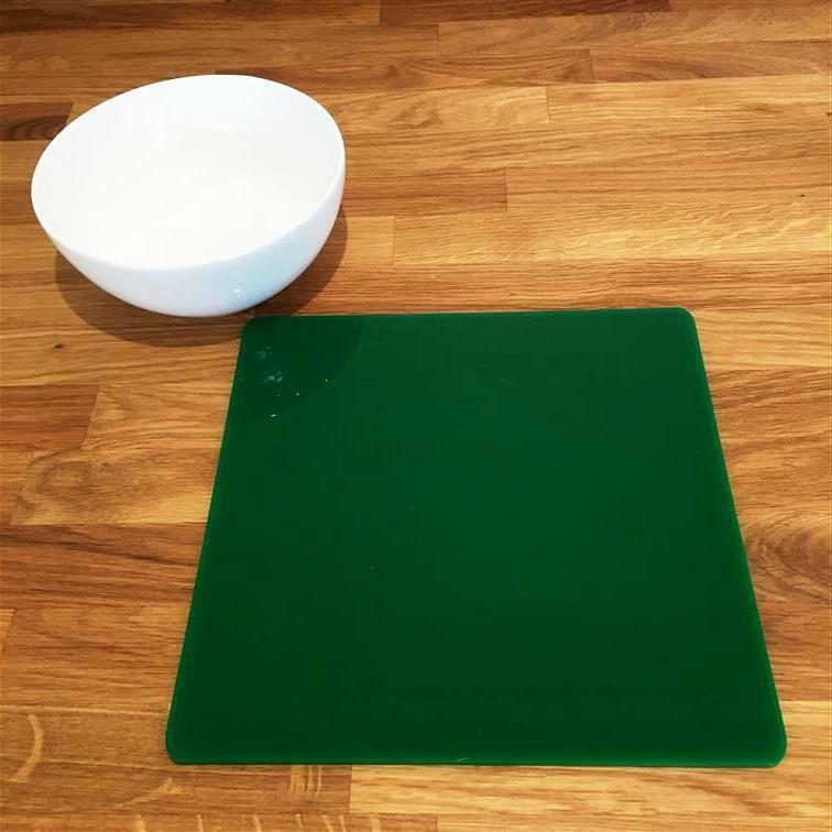 Square Shaped Green Gloss Finish Acrylic Placemats, Sets 4 6 8, Size 9  or 12
