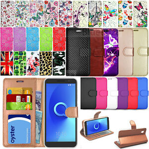 Details about For Alcatel 1 1S 1X 2019 1C Phone Protector Case Wallet  Leather Book Cover Flip