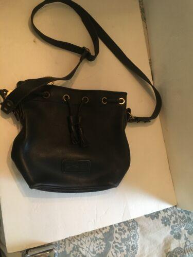 Dooney Sling Vintage de borlas Bag Bourke Negro cuero Bucket suave FvAFgnx