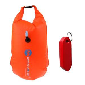 Swim-Bouy-Air-Bag-Flotation-Device-Waterproof-Dry-Bag-Sack-w-Keychian-Red