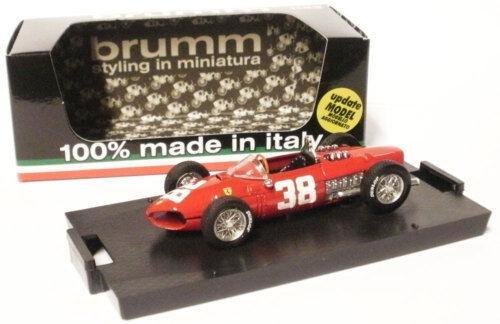 ganancia cero Brumm r124 Ferrari Dino 156 1961-Phil Hill Hill Hill 1961 F1 World Champion 1 43 Escala  entrega rápida