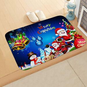 Funny-Christmas-Santa-Snowman-Antislip-Bathroom-Door-Floor-Carpet-Mat-Cushion