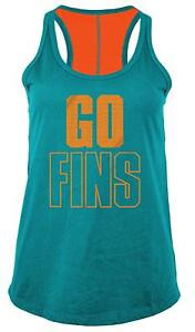 5th & Ocean NFL Miami Dolphins Women's Baby Jersey Racer Back Tank Top