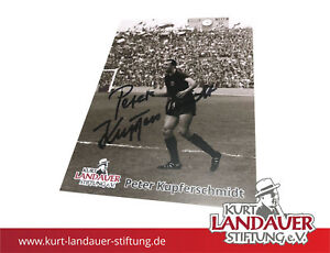 Autogrammkarte Peter Kupferschmidt – Kurt Landauer Stiftung