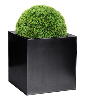 Garten Pflanzentopf/Blumenkübel verzinktem Stahl Quadratisch brüniertes Metall