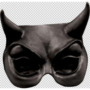 Rubber Halloween Eye Adult Ghoulish Productions Devil Black Latex Half Mask