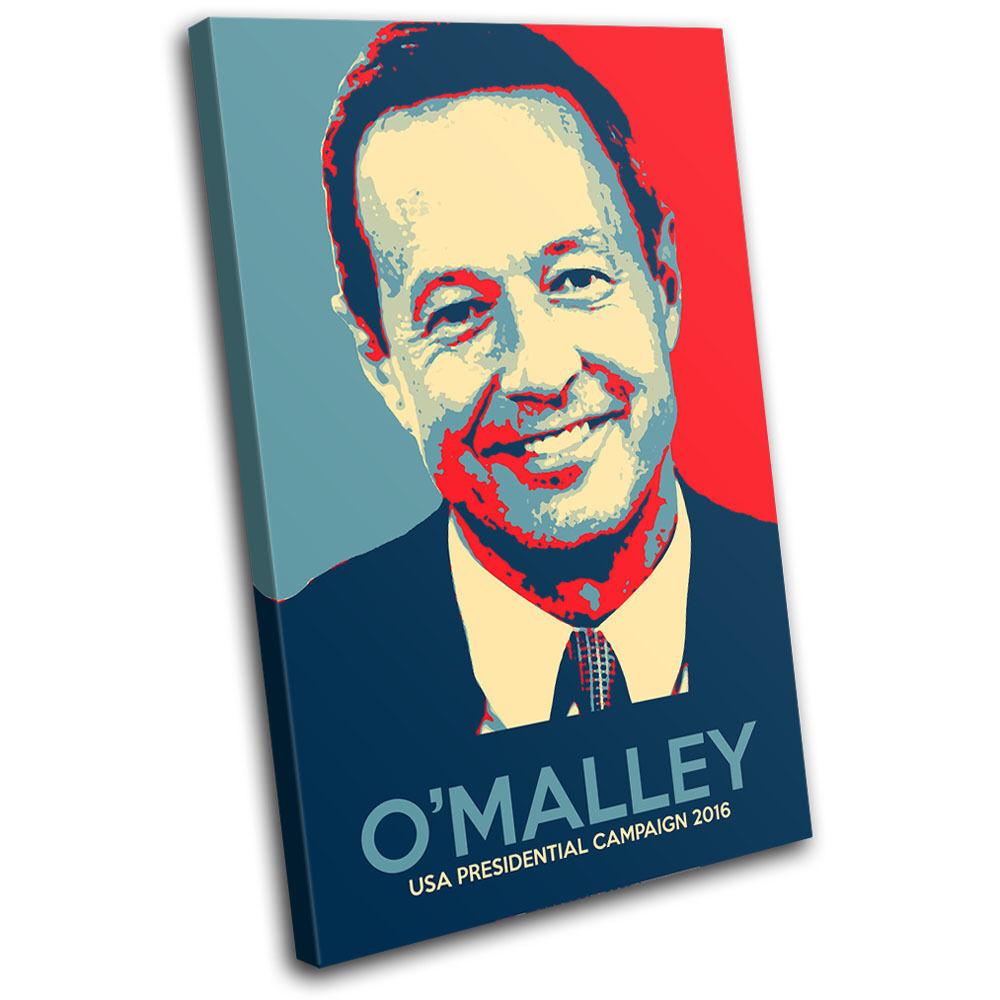 US Politic O'Malley Iconic Celebrities SINGLE Leinwand Wand Kunst Bild drucken