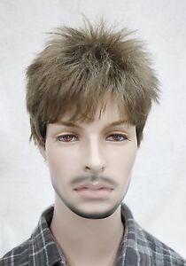 Details About Man Men Wig Light Golden Brown Male Menfolk Daily Wear Hair Full Wig Wigs Ftlm14